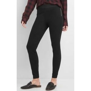 Gap Side-Zip Ponte High-Waisted Black Leggings